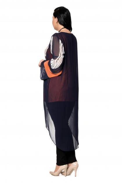 Артикул 301597 - блузка большого размера - вид сзади