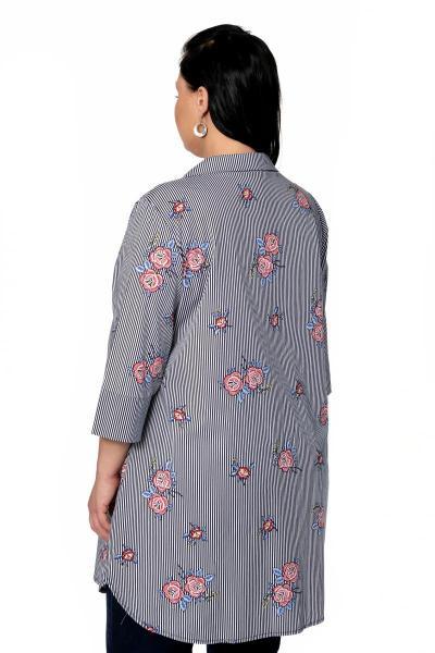 Артикул 301643 - блузка большого размера - вид сзади