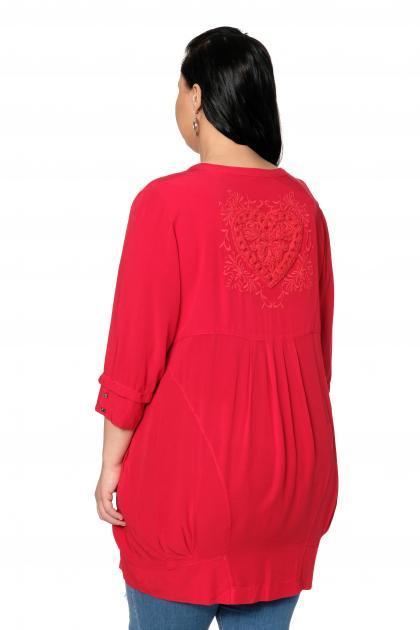 Артикул 306321 - блузка большого размера - вид сзади