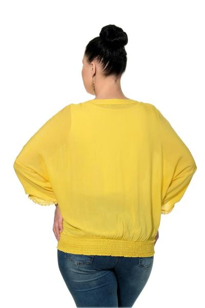 Артикул 306888 - блузка большого размера - вид сзади