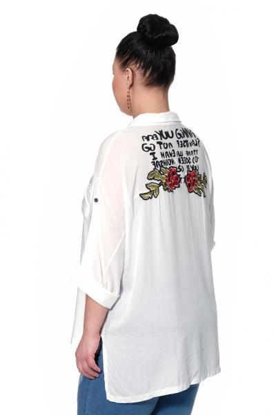 Артикул 334556 - блузка большого размера - вид сзади
