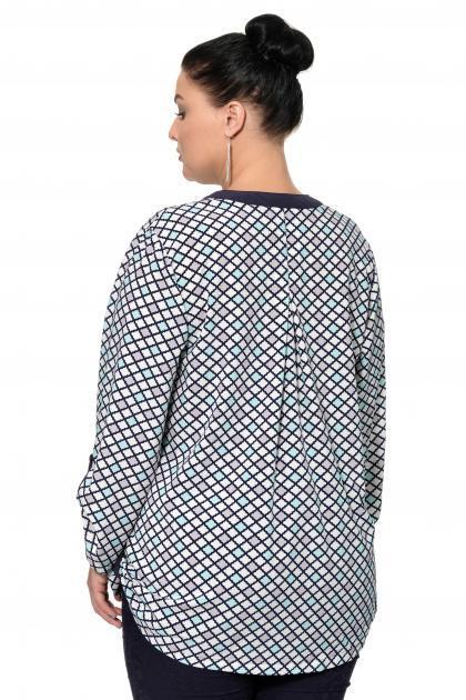 Артикул 17215 - блузка большого размера - вид сзади
