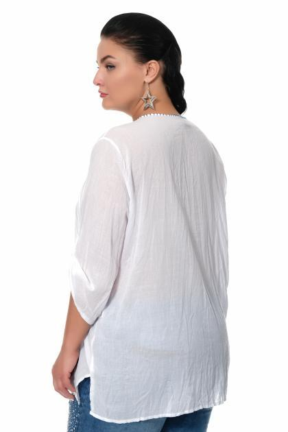 Артикул 307441 - блузка большого размера - вид сзади