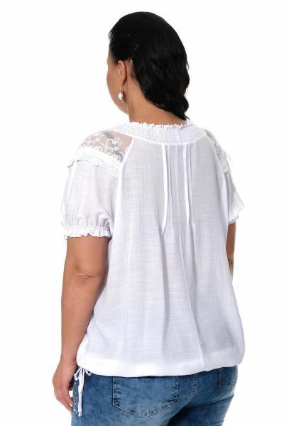Артикул 306911-1 - блузка большого размера - вид сзади