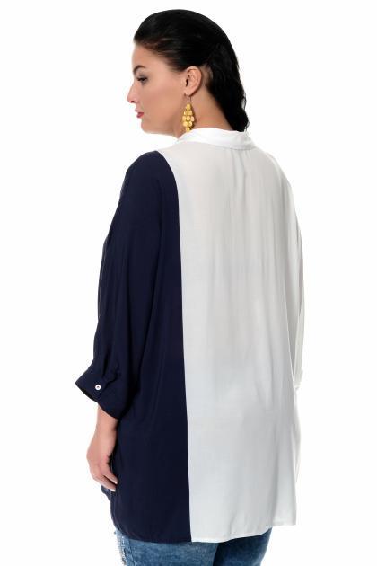 Артикул 306330 - блузка большого размера - вид сзади