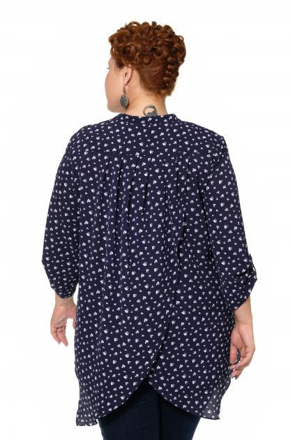 Артикул 15247 - блузка большого размера - вид сзади