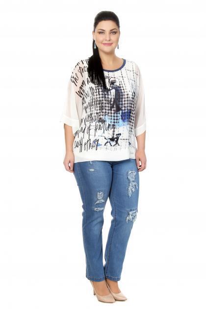 Артикул 304042 - джинсы  большого размера