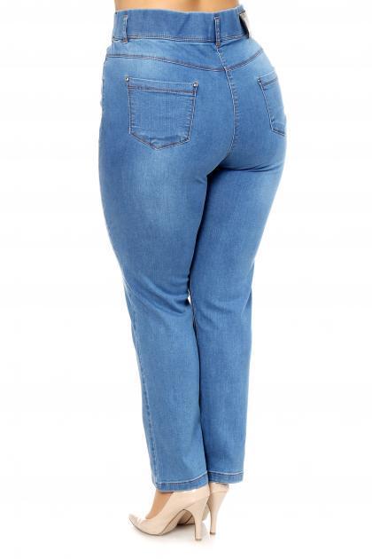Артикул 304042 - джинсы  большого размера - вид сзади