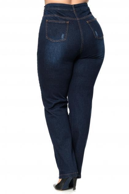 Артикул 304124-1 - джинсы большого размера - вид сзади