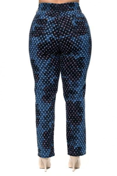 Артикул 302534 - джинсы большого размера - вид сзади