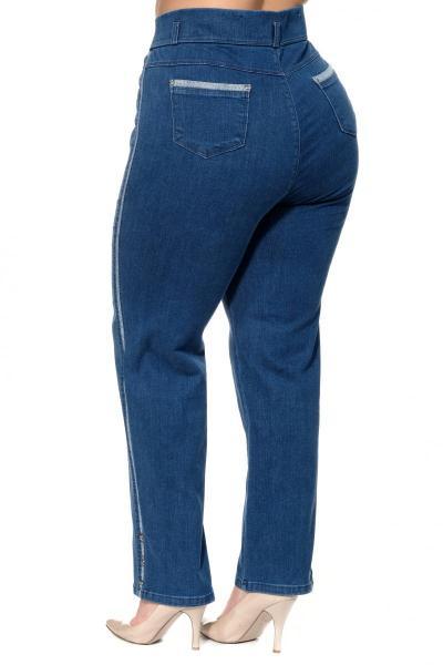 Артикул 302484 - джинсы большого размера - вид сзади