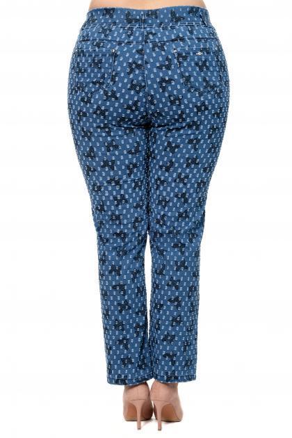 Артикул 302610 - джинсы большого размера - вид сзади