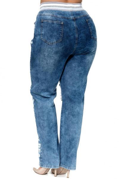 Артикул 304544 - джинсы большого размера - вид сзади