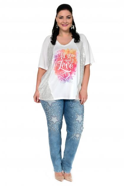 Артикул 302358 - джинсы большого размера