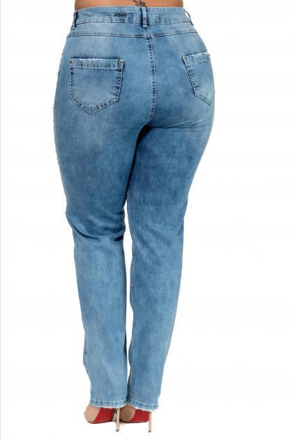 Артикул 302358 - джинсы большого размера - вид сзади
