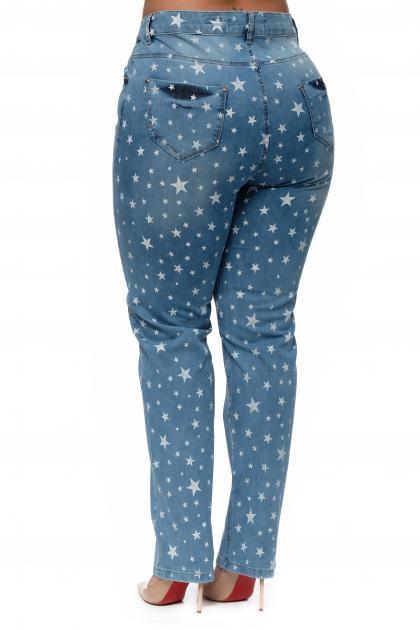 Артикул 302408-1 - джинсы большого размера - вид сзади