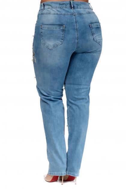 Артикул 302309 - джинсы большого размера - вид сзади