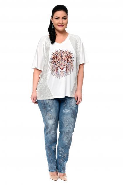 Артикул 302403 - джинсы большого размера