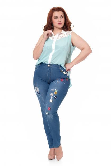Артикул 300635-2 - джинсы большого размера