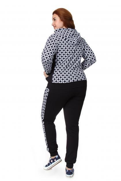 Артикул 56 - костюм  большого размера - вид сзади