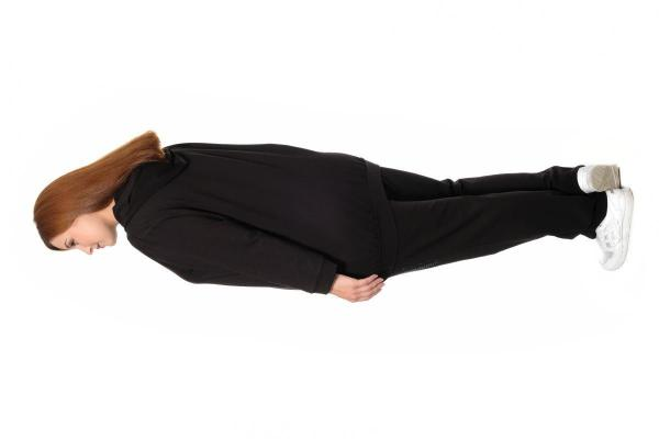 Артикул 301008 - костюм спортивный большого размера - вид сзади