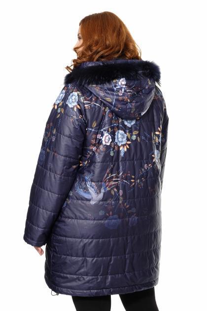 Артикул 370805 - куртка большого размера - вид сзади