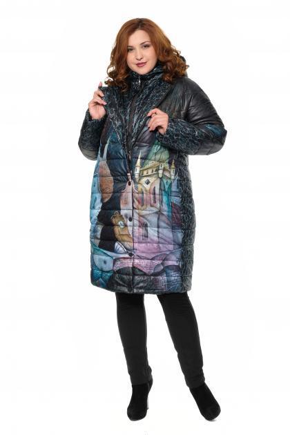 Артикул 310003 - пальто-трансформер большого размера