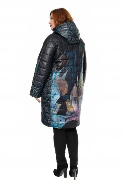Артикул 310003 - пальто-трансформер большого размера - вид сзади
