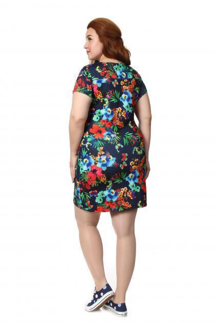 Артикул 148 - платье  большого размера - вид сзади