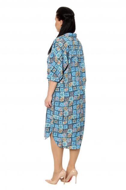 Артикул 17313 - платье  большого размера - вид сзади