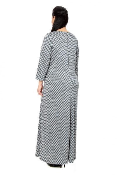 Артикул 17312 - платье большого размера - вид сзади