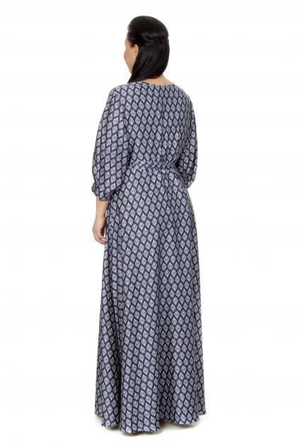 Артикул 16331 - платье  большого размера - вид сзади