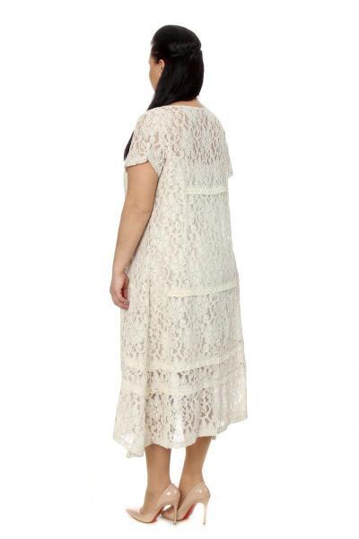Артикул 17314 - платье с сорочкой большого размера - вид сзади