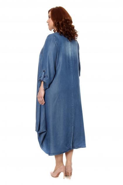 Артикул 306205 - платье большого размера - вид сзади