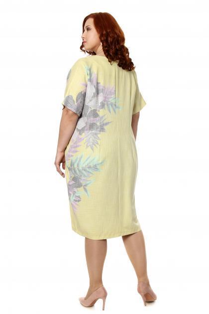 Артикул 306891 - платье  большого размера - вид сзади
