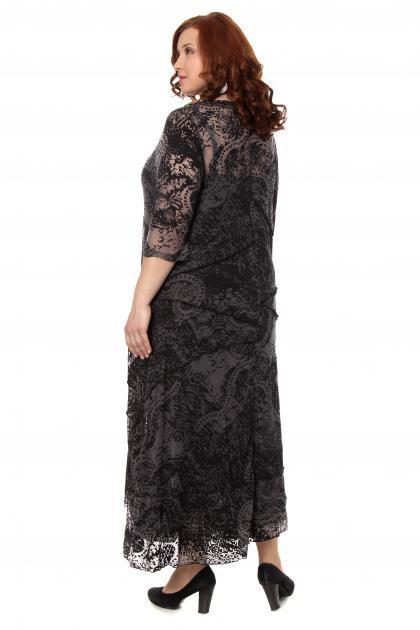 Артикул 300552 - платье с сорочкой  большого размера - вид сзади