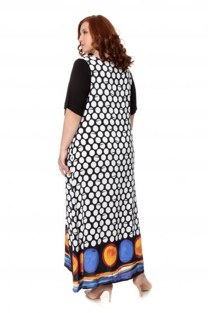 Артикул 302513 - платье большого размера - вид сзади
