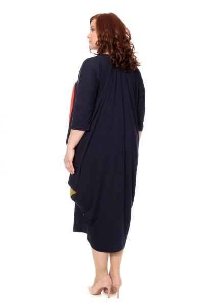 Артикул 302406 - платье  большого размера - вид сзади
