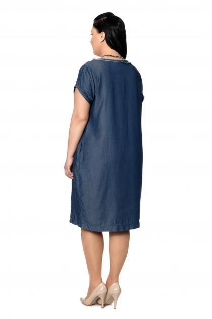 Артикул 303091 - платье большого размера - вид сзади