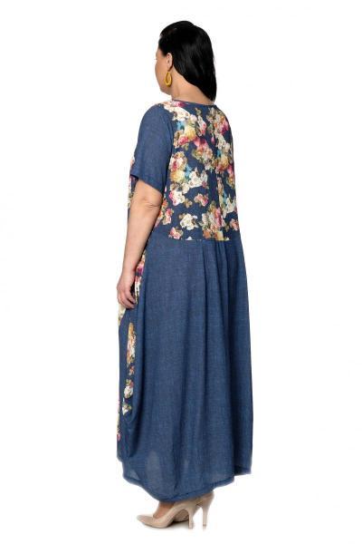 Артикул 301641 - платье  большого размера - вид сзади