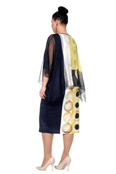 Артикул 302375 - платье большого размера - вид сзади