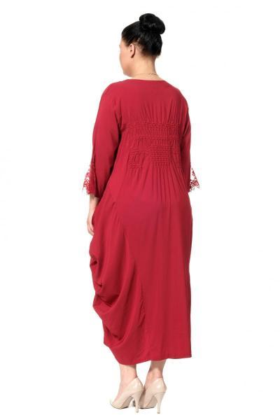 Артикул 100124 - платье большого размера - вид сзади