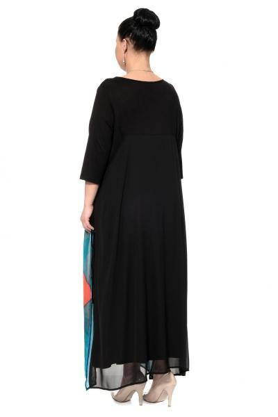 Артикул 302360 - платье большого размера - вид сзади