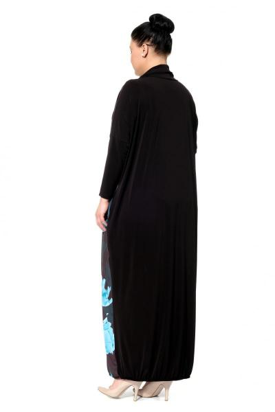 Артикул 302483 - платье большого размера - вид сзади