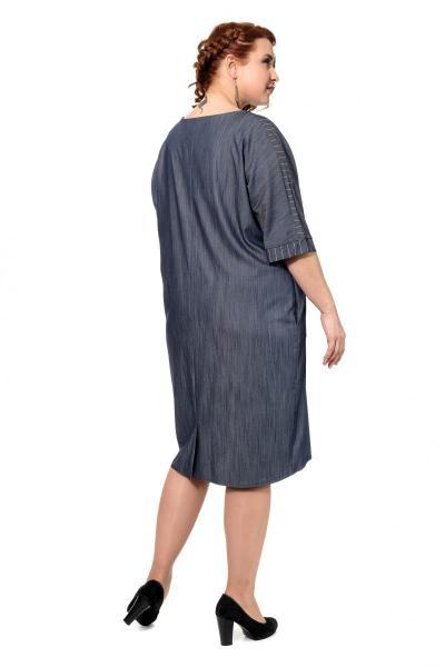 Артикул 309262 - платье большого размера - вид сзади