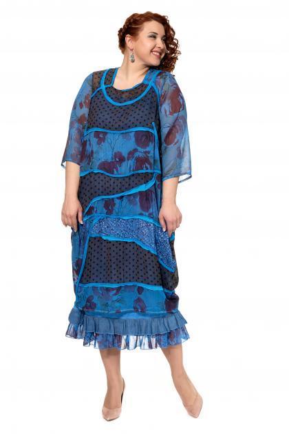 Артикул 300556 - платье с сорочкой большого размера