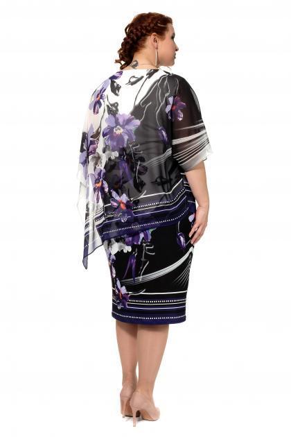 Артикул 317617 - платье  большого размера - вид сзади