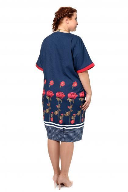 Артикул 303973 - платье большого размера - вид сзади
