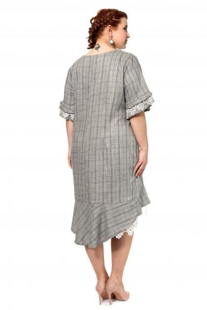 Артикул 309198 - платье большого размера - вид сзади