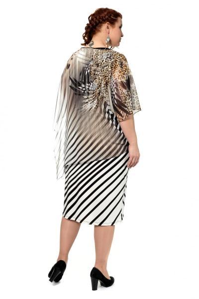 Артикул 315630 - платье большого размера - вид сзади